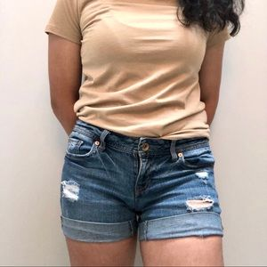 aeropostale boyfriend jean shorts